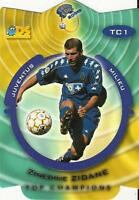 1999-2000 DS France Foot 2000 'Top Champions' Die-Cut Card Different Variations