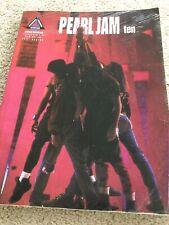 Pearl Jam 10 Grunge Heavy Metal Guitar Tab Music Book