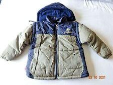 Boy Coat Khaki/Navy Jacket With Detachable Hood & Sleeves Gilet Bodywarmer 2-3 y