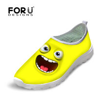 Emoji Cross Training Shoes Womens Running Shoes Breathable Sport  Light Multi