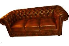Chesterfield Ledersofa Sofagarnitur Couch Polster Couch Sitz Garnitur NEWTON
