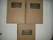 Handbuch der Zahnersatzkunde  -  Julius Bach;  3 Bände