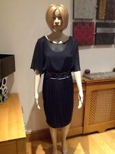 STUNNING PHASE EIGHT BLACK COCKTAIL DRESS WITH BEADING UK SIZE 8 BNWT RRP £130