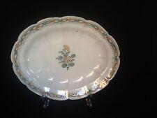 Piatto ovale sperlunga in ceramica maiolica fabbrica di Cerreto del '700