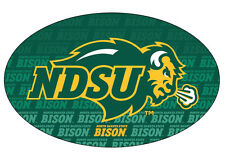 NORTH DAKOTA STATE BISON REPEAT PRINT OVAL DECAL-NDSU DECAL-NEW FOR 2016!
