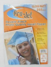 20 Sheets GLOSS & MATT Double Sided A4 Photo Paper 255gsm Quality Inkjet Paper