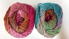Noro Kureyon #348 Pink, Aqua, Green & Tan Mix 50g