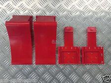 2 x Unterlegkeile /  Bremskeile / inkl. Halter in rot, PKW Anhänger