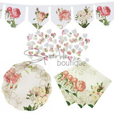 FLORAL PARTY SET- Plates, Napkins, Bunting & Confetti -Blossom & Brogues-Wedding