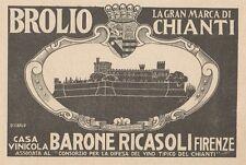 Z1234 BROLIO Casa Vinicola Barone Ricasoli - Pubblicità d'epoca - 1932 Old ad