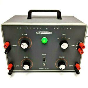 Heathkit ID-22 Electronic Switch Dual Scope Testing Equipment Powers On Vtg F4
