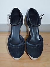 WOMENS HOSS ZAP PLATFORM BLACK SUEDE LEATHER HEELS - AIZE 39/8 BRAND NEW