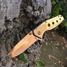 Tac Force Rose Gold copper Collector Spring Open Small Gentlemen Pocket Knife