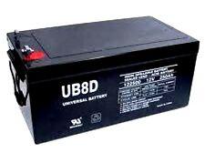 UPG 12V 250AH Sealed Lead Acid 1 - NEW Battery - UNIVERSAL UB-8D AGM