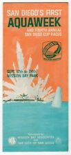 "1967 Travel Brochure: ""San Diego's 1st Aquaweek & 4th Annual Cup Races"""