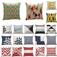 Throw Pillow Cover Geometric Waist Case Cotton Sofa Cushion Latest Decor Home