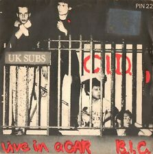UK SUBS c.i.d. / live in a car - b.i.c. 45RPM 1979 PIN22 Pinnacle UK Punk