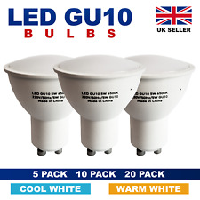 GU10 LED Cool light LED Spotlight Bulbs Replace 50W Halogen Lamp 5W 5/10/20 pack