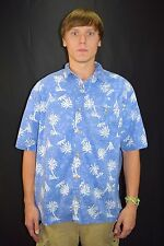 Men's FLYSHACKER Clothing Co Purple Tie Dye Palm Tree Print Casual Shirt - XL