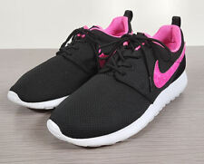Nike 'Roshe Run' Sneaker, Black Mesh / Pink Youth Size 7 / 40