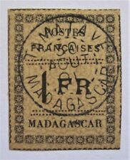 1891 French Madagascar #12 used with Excellent Centering and 4 Nice Margins