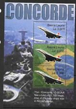 SIERRA LEONE SGMS4184 2004 LAST FLIGHT OF CONCORDE MNH