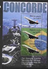 SIERRA LEONE SGMS 4184 2004 ultimo volo del Concorde Gomma integra, non linguellato