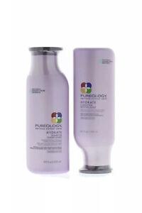 Pureology Hydrate Shampoo & Conditioner 8.5oz ea 2 New Bottles 100% Vegan