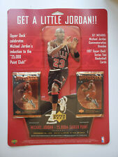 Michael Jordan Mini Stand Up, UD 1997 25,000th Career Point, new, 2 card packs