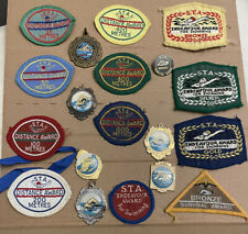More details for vintage international sta distance award 19 x patch badge medal swimming 70/80's