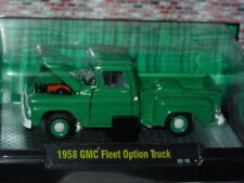 M2 MACHINES AUTO TRUCKS 1958 58 GMC FLEET OPTION TRUCK -Green, MIP