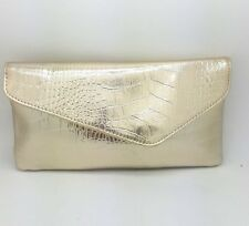 Avon Cosmetic Bag Gold Crocodile Effect Medium Size Make up FREE DELIVERY