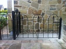 wrought iron railings metal garden fence