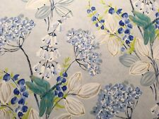 DESIGNERS GUIlD 'Kimono Blossom' CURTAIN CUSHION 100% COTTON FABRIC 3.2M DELFT