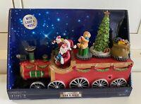 DEKO ZUG Weihnachtszug mit Musik, LED Beleuchtung, Bewegung ca 25 x 16 x 8cm NEU