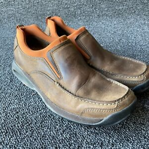 Men's Cole Haan Brown Leather NikeAir  Moc Toe Loafer Shoes Size 8 Orange