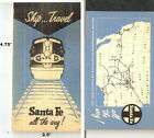ATSF SANTA FE NOTEBOOK 2 Pages Missing MAP on Back Cover