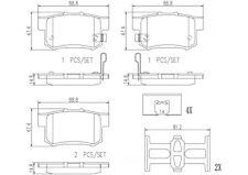 Disc Brake Pad Set-Premium NAO Ceramic OE Equivalent Pad Rear Brembo P28039N
