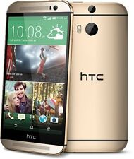 NEW HTC One M8 32GB Gold GSM Unlocked Android 4G LTE Smartphone With Extras