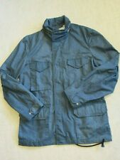 Corridor NYC Blue Ripstop Jacket with Hood Unlined M65