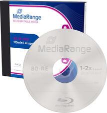 5 MediaRange Blu-ray BD-RE 25Gb 1-2x Rohlinge Jewelcase wiederbeschreibbar