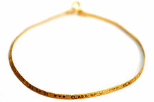 "14K Solid Yellow Gold Class of 91 Bracelet 7"" Long - 2mm Wide - 1.10grams"