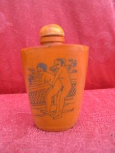 alte Snuff - Bottle__erotische Darstellungen__China__Richflasche__beschnitzt_! !