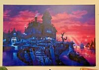 "Phantom Manor Giant Giclee Canvas 24x36"" Disneyland Paris Haunted Mansion 50th"