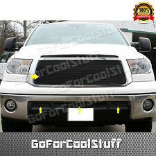 For TOYOTA Tundra 2010 2011 2012 2013 Black Grille Grill Combo Upper+Bumper 4PC
