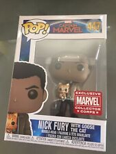 Nick Fury With Goose The Cat Funko Pop Marvel Collectors Corps Exclusive