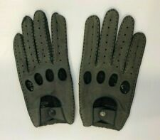 Vintage Men's ARIS Hand Made Gray Leather XL Driving Gloves