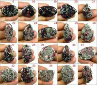 TOP RARE! EUDIALYTE CABOCHON MIX SHAPE LOOSE NATURAL GEMSTONE JEWELRY USE ED-C