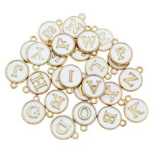26pcs Jewelry Pendant Alphabet Letters Charms for Necklace Bracelet DIY Making