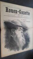 JOURNAL HEBDOMADAIRE ROUEN-GAZETTE N°19 SAMEDI 1ER OCTOBRE  1910  ABE